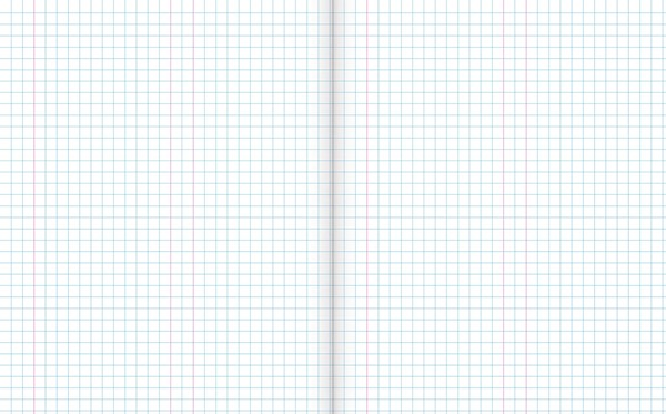 Warwick Exercise Book 1E5 36 Leaf With Margin Quad 7mm 255x205mm -