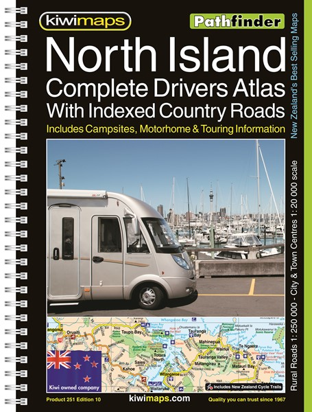 Pathfinder North Island Complete Drivers Atlas With Indexed Country Roads A4 Map Book -