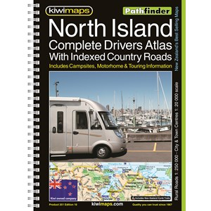 Pathfinder North Island Complete Drivers Atlas With Indexed Country Roads A4 Map Book