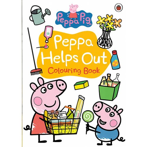 Peppa Pig: Peppa Helps Out Colouring Book -