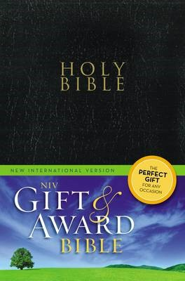 NIV, Gift and Award Bible, Leather-Look, Black, Red Letter Edition - pr_419319