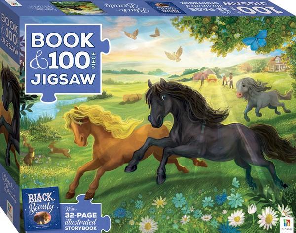 Book with 100-piece jigsaw: Black Beauty -