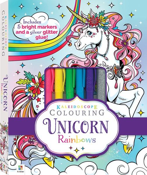 Kaleidoscope Colouring Kit: Bright Unicorn -