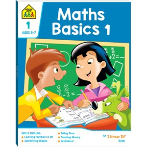 School Zone Maths Basics 1 I Know It Book