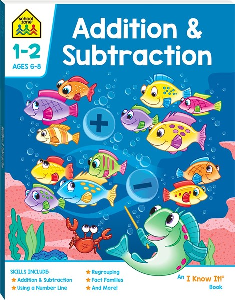 School Zone Addition and Subtraction I Know It Book - pr_428796