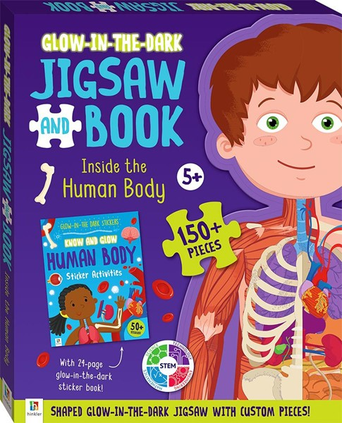 Glow-in-the-dark Jigsaw and Book: Inside the Human Body - pr_428803