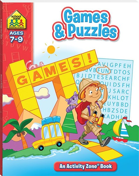 School Zone Games and Puzzles Activity Zone Book - pr_421863
