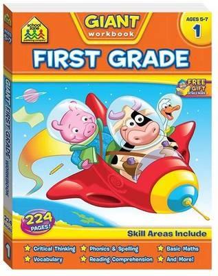 School Zone Giant First Grade Workbook - pr_421857
