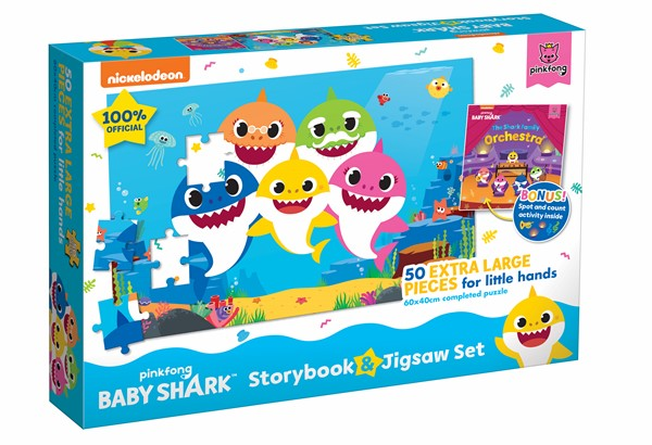Baby Shark Book and Puzzle -