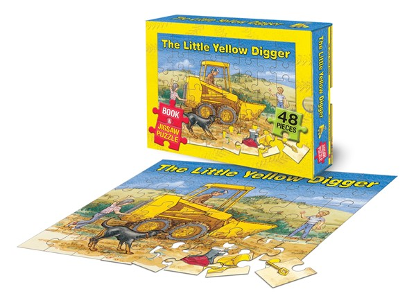 The Little Yellow Digger Book and Jigsaw Puzzle -