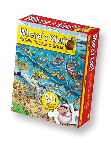 Where's Kiwi Jigsaw Puzzle & Book -