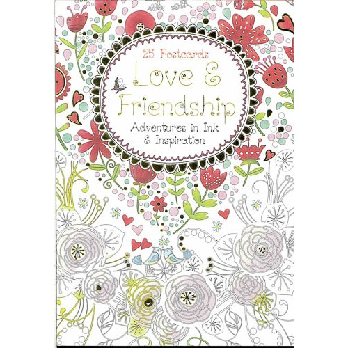 Love & Friendship Postcards Book -