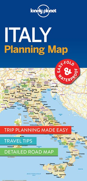 Lonely Planet Italy Planning Map -