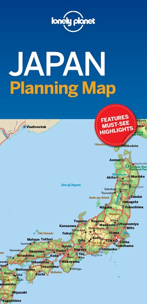 Lonely Planet Japan Planning Map -