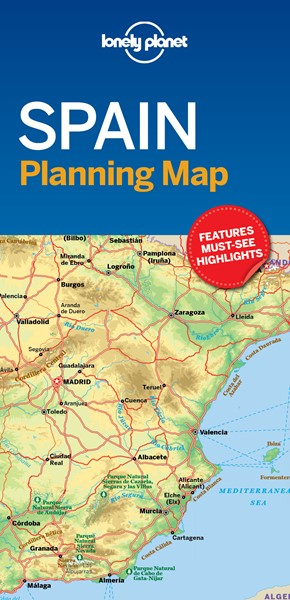 Lonely Planet Spain Planning Map - pr_162602
