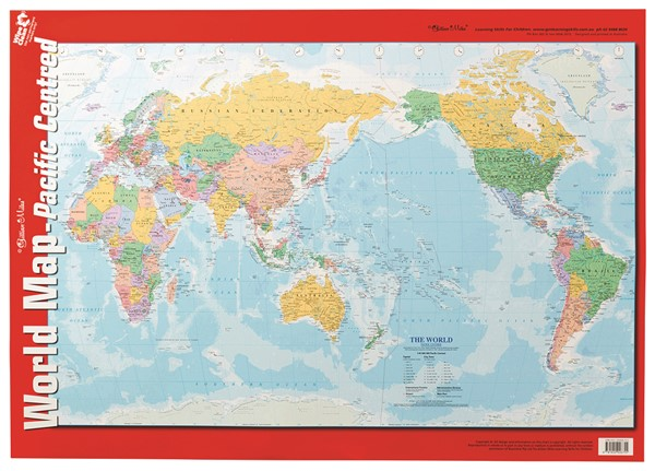 EC Wall Chart World Maps Pacific Centred - pr_1880119