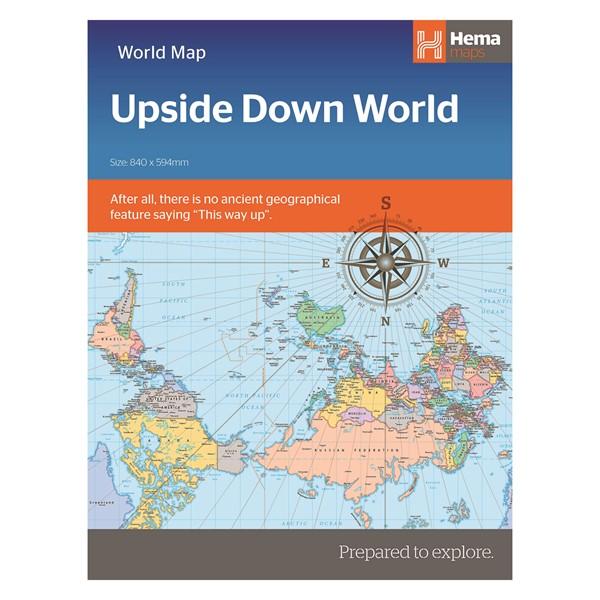 World political upside down in envelope -